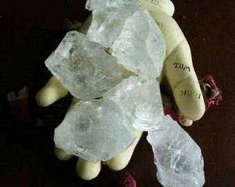 "Raw Clear Quartz Stones(1) ~ Approx. 1"" - 1.5"" ~ Randomly Selected ~ Rainbows~ Master Healer ~ Powerful ~ High Vibration~ Meditation ~ Altar"