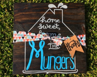 Sign - Personalized - Wood Sign - Decor - Home