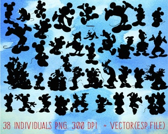 Disney Mickey and friends clipart, Clip Art,T shirt, iron on, sticker, Vectors files ,Personal Use
