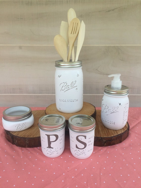 Mason jar kitchen set kitchen decor kitchen by for Kitchen jar decoration