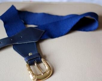 Vintage navy waist belt