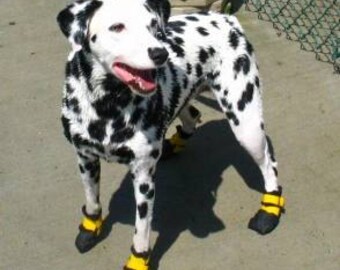 dog boots- Heavyweight New & ExtremeWaterproof (4 boots) Paw protectors  4 boots-antislip -waterproof dog paw  protectors