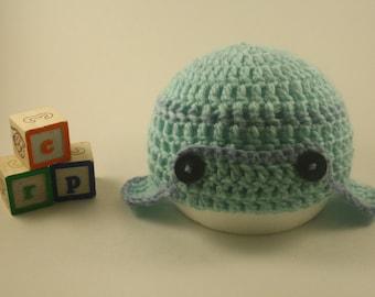 Lil Man's Flappy Hat - Baby Boy Hat - Newborn Baby Hat - Blue Baby Hat - Baby Hat