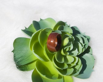Sapele with Mahogany Burl Bentwood Ring