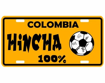 Hincha Seleccion Colombia 100% - Colombia Decorative License Plate - Placa Futbol