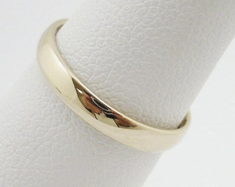 NEW Solid 10K Yellow Gold Plain Band Ring 3mm Sizes 1 - 12, Midi / Knuckle