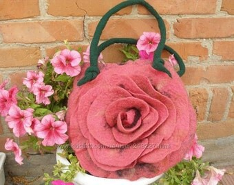 Bag is made of merino wool, felted bag