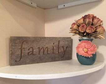 Rustic Barnwood Family Sign