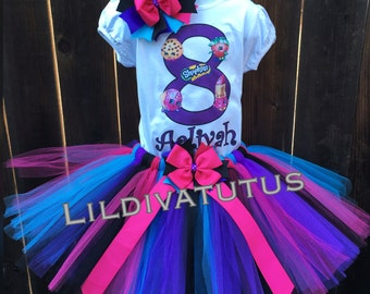 Handmade Shopkins Tutu Set / Shopkins birthday shirt / Shopkins birthday outfit / Shopkins