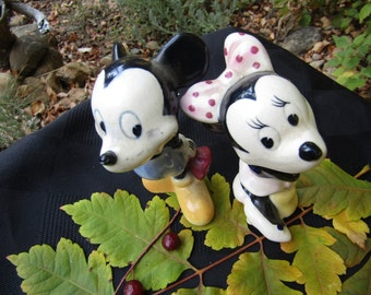 Vintage Mickey and Minnie set