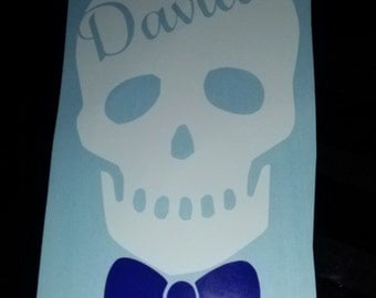 Buy 4 get 1 FREE - mix n match - Skull Decal - Skull Sticker -  skull Decal - Custom Skull Decal - Skull Name decal -Sticker/Bumper Sticker
