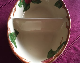 Vintage Franciscan Apple  Divided Dish