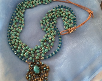 Beaded vintage inspired necklace