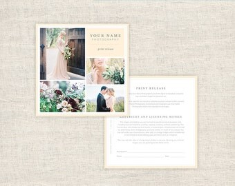 Wedding Photography Print Release Form   Photographer Print Release  Template   Copyright Form For Photographers