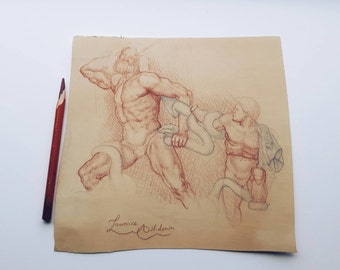 Sketch of 'Laocoön and His Sons'