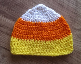 crochet candy corn hat, baby crochet halloween hat, candy corn hat, halloween hat, baby halloween hat, Crochet candy corn hat,