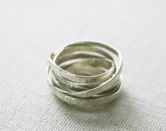Multiple Band Sterling Silver Statement Ring