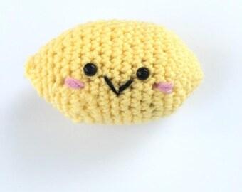 amigurumi lemon baby rattle