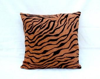 Tan Zebra Print Cushion