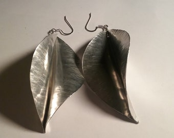 Twisted Leaf  Aluminum earrings