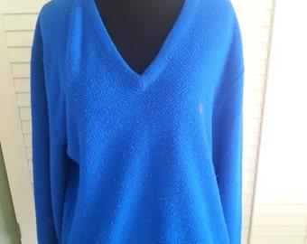 Christian Dior men sweater, vintage Dior sweater, vintage Christian Dior, vintage blue dior, vintage Dior. 1980's Dior sweater