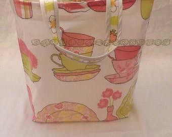Oilcloth Shopper Bag Various Prints 30x28cm