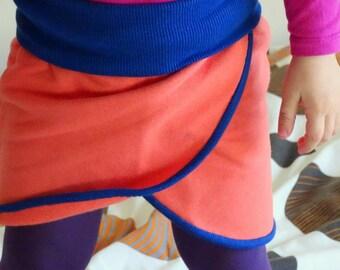 Skirt Organic Cotton Fleece Birch Fabrics, Coral skirt