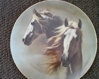 Fred Stone Andalusians Horses Limited Edition Plate