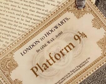 Harry Potter Platform 9 3/4-Handmade: Bookmark