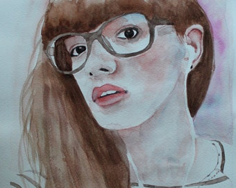 Hand drawn Watercolor Portrait From Your Picture