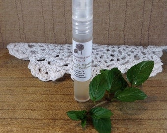 Creme de Menthe All Natural Perfume-Natural Perfume-Aromatherapy-Vanilla Mint Fragrance-Natural Scents
