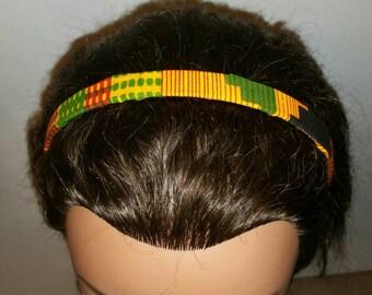 African print flower hairband - kente
