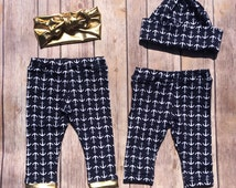 Baby Coming Home Outfit Set, Twin outfit set, Brother sister set, Baby Outfit Set, Baby Leggings,Onesie, leggings,Onesie and Hat,Outfit Set