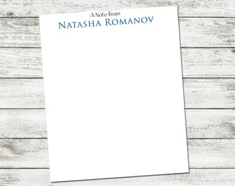 Notepad, A Note From Note Pad, Custom Personalized Notepad
