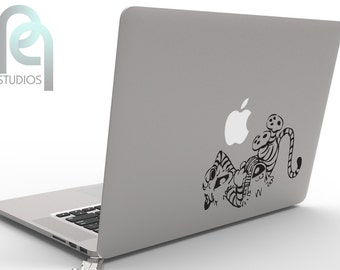 Calvin and Hobbes - cute and creative High Quality matte vinyl macbook or laptop decal, sticker SKU - PPMD064