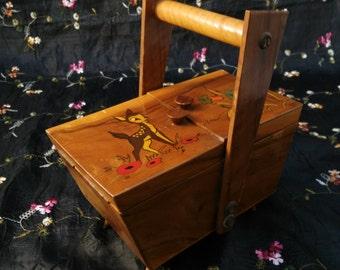 Retro Wooden Box, Bambi Design