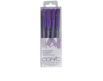 NEW COLOR Copic Multiliner Lavender Too Multiliner Inking Pens Set of 4 Express Shipping EMS
