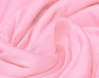 Baby Pink - Cotton Lycra Jersey Knit Fabric