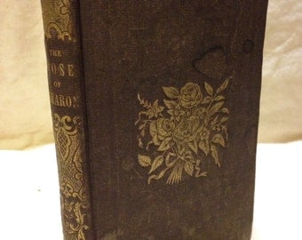 Antique Miniature Religous Book. The Rose of Sharon or Gems of Sacred Poetry