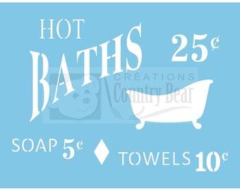 Stencil -  Hot Baths - ST-063