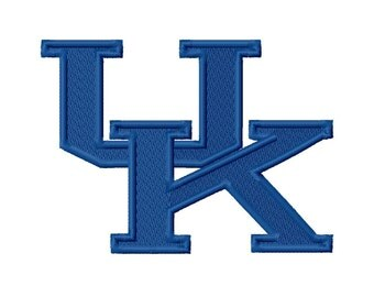 UK Solid Fill 2 Embroidery Design 3x3 4x4 5x5 University Kentucky INSTANT DOWNLOAD