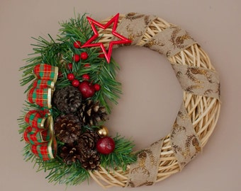 Weaved Holiday Wreath