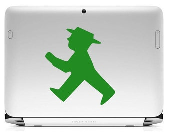 "Bumper sticker ""Ampelmännchen walking"""