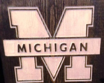 College Team Etched Wood Wall Decor