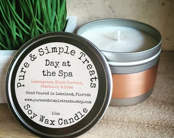 Day at the Spa 10oz Soy Candle - Therapeutic Candle