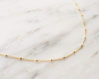 Satellite Chain Choker / Gold Choker / Choker Necklace / Dainty Choker / Gift, Birthday Idea