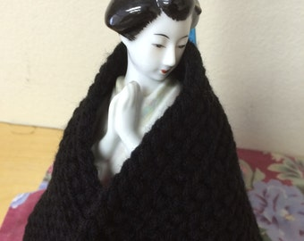 Handmade acrylic scarf black