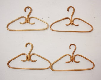 Only 1 Left - Vintage French Bentwood Rattan Clothes Hangers, Four Available (PRICED INDIVIDUALLY), Bridesmaids, Wedding, Display, Boutique