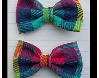 Girls plaid bows