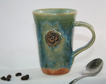 OM Mug, 10oz, Wheel Thrown Stoneware